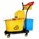 54L multi-functional down-press mop wringer trolley