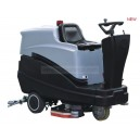 dual-brush ride-on scrubber dryer machine