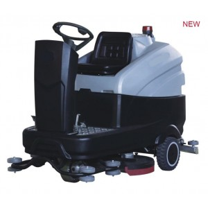 Full automatic dual-brush ride-on scrubber dryer machine