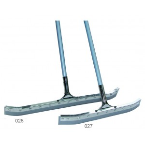 curved steel-clip rubber squeegee