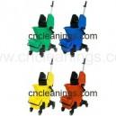 32L central down-press mop wringer bucket trolley
