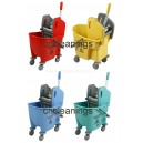 25L down press mop wringer bucket trolley
