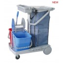 multi-functional janitorial cart