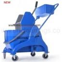 multi-functional 25L down press mop wringer bucket trolley