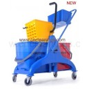 50L side press mop wringer bucket trolley