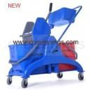 50L down press mop wringer bucket trolley