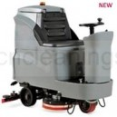 2*brush ride-on floor scrubber machine