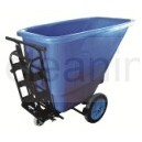 hand push tilt garbage container cart