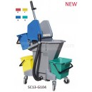 multifunctional 28L mop wringer trolley cart