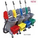 multifunctional 28L mop wringer trolley cart