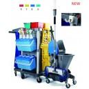 multifunctional janitor cart set