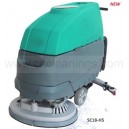 walk behind dual-brush scrubber cleaning machine