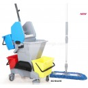 multi-functional mopping janitorial bucket trolley cart