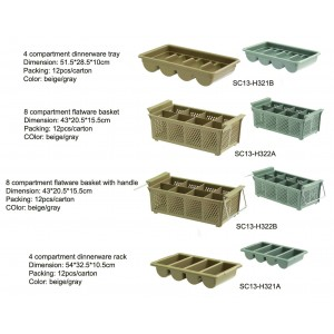 compartment dinnerware rack & basket