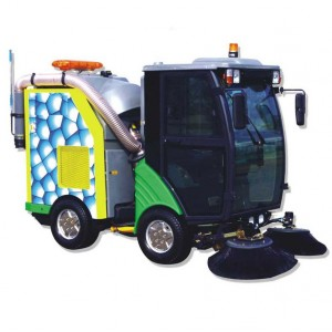 diesel driving ride-on road sweeper